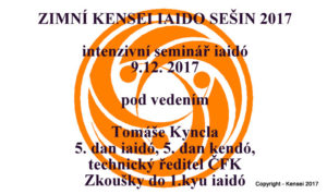 KENSEI IAIDO SEISHIN 2017 - WINTER @ ZŠ Modrá škola | Praha | Hlavní město Praha | Česká republika