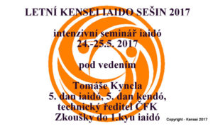 KENSEI IAIDO SEISHIN 2017 - SUMMER @ ZŠ Modrá škola | Praha | Hlavní město Praha | Česká republika