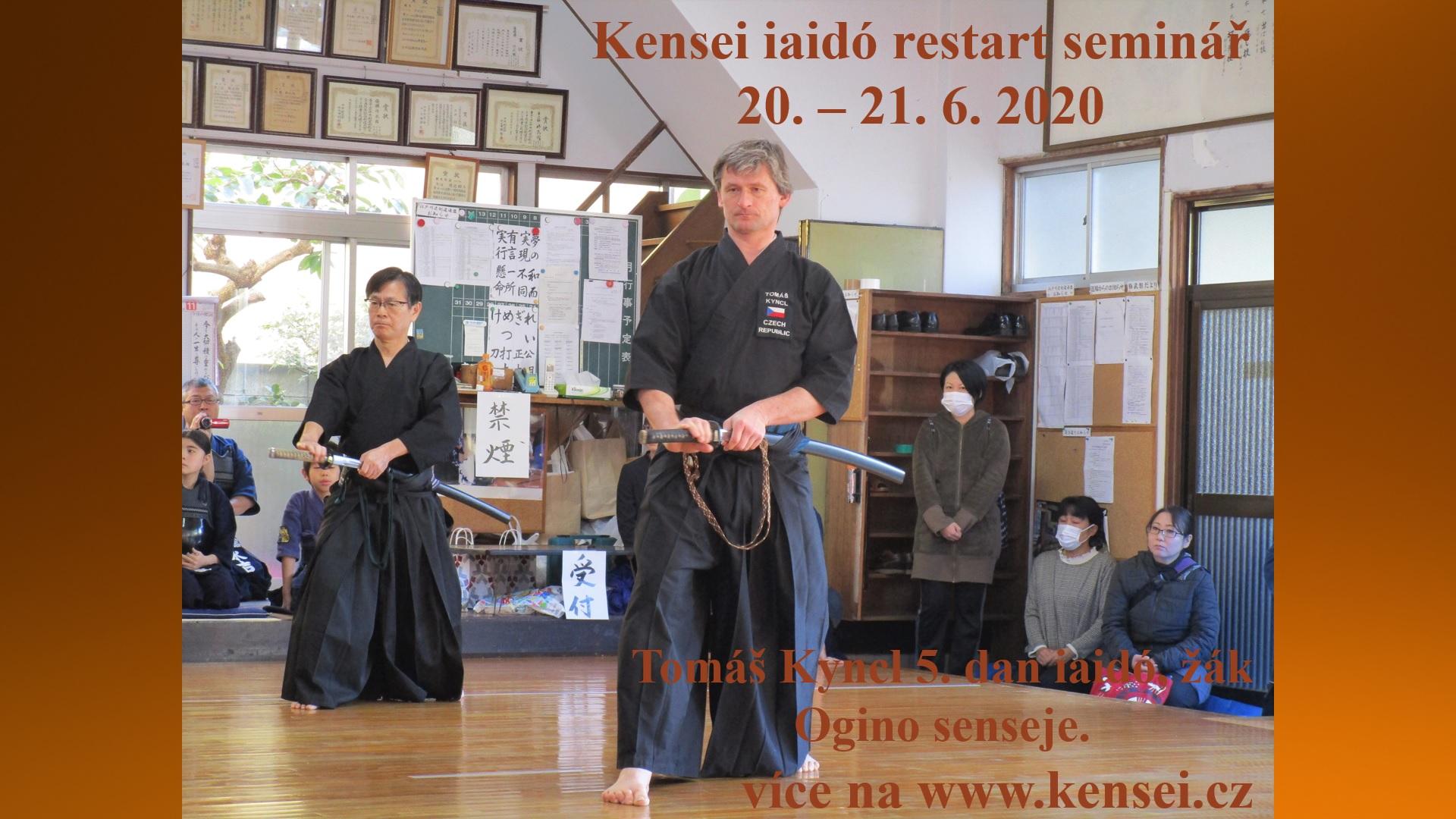 Kensei Iaido restart seminář 2020