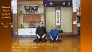 """Kensei iaidó """"restart"""" seminář 2021 @ Kensei dódžó"""